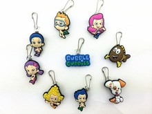 9 Pcs Bubble Guppies Shoe accessories Shoe Charms Shoe Decoration with Zipper Pull Zipper Slider for Jacket Backpack Bag(China)
