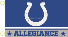 Indianapolis Colts Allegiance Flag 3x5 FT 150X90CM NFL Banner 100D Polyester Custom flag grommets 6038, free shipping(China)