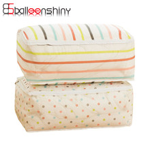 BalleenShiny Portable Clothes Storage Bag Blanket Pillow Quilt Pouch Home Closet Sweater Storage Pouch Organizer Wardrobe