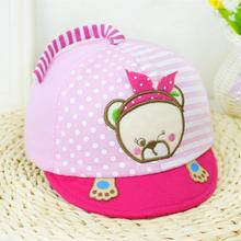 Bear Child's Visors Cap Dots For Children Casquette Printing Gorras Cotton Outdoor Sports Fishing Sunscreen Girl's Hats 2017(China)