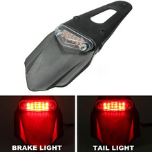 MAYITR New Motorcycle Fender LED Stop Rear Tail Light Taillight for Enduro Trials Trailbikes XR400 Kawasaki KLX450R KTM 400(China)