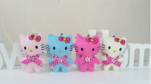 Kawaii 10pcs/lot Hello Kitty Plush Toy mix Colors 5CM Stuffed Toy Doll ; mini small Wedding Bouquet Gift Plush Doll