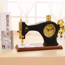 Sewing Machine Alarm Clock Vintage Decor Desk Clocks Furnishing Articles Ornament For Birthday Gifts Souvenir Classic Clock