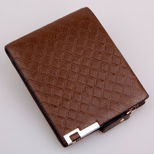 wholesale  men's wallet Manufacturer multi card holders business purse wallet short paragraph wallet  lattice purse