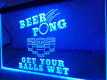 LB939- Beer Pong Get Your Balls Wet   LED Neon Light Sign   home decor  crafts