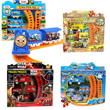 Star Wars Thomas Train Track Electric Railway Rail Elsa Robot Children's Educational Toys Electric With Nice Package #N
