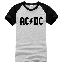 New fashion summer AC/DC band rock T Shirt Mens acdc Graphic T-shirts Print Casual Tshirt 100% cotton O Neck HipHop Short Sleeve