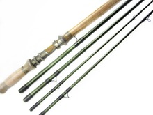 Aventik 11'6'' 4sec Double Hand Switch Rods Fly Rods with Extra Tip Fly fishing Rod Super Light fishing rod(China)