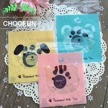500pcs Wholesale Cute Bear Birthday Party Gift and Candy Packaging Bags OPP Self Adhesive Seal Cookie Baking Plastic Bag BZ240(China)