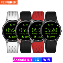 2017 Hot kingwear Kw88 android 5.1 OS Smart watch 1.39 inch 400*400 SmartWatch phone support 3G wifi nano SIM WCDMA Heart Rate - Feipuker Store store