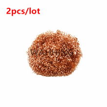 2pcs/lot Welding Soldering Solder Iron Tip Cleaner Cleaning Steel Copper Wire Ball Cleaning tool HY1114*2(Hong Kong)