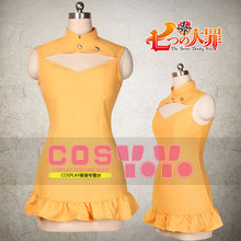 The Seven Deadly Sins Serpent Sin of Envy Diane Cosplay Costume Halloween Uniform Outfit Dress+Sleeves+Wristband+Shoes Covers
