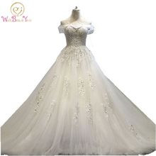 Buy 100% Real Photo vestido de noiva princesa Wedding Dress Lace Beaded Bridal Gowns Train 2017 Stock Cheap Wedding Dresses for $79.05 in AliExpress store