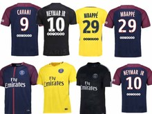 Hot sale 2017 Top Best Qualit psg Short sleeve PSG adult kit+sock Soccer jersey 17 18 PSG Home Away 3RD PGS Shirt Free shipping(China)
