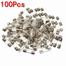 100 pcs 2 Amp 250V Glass Tube Fues Slow Blow 20mm X 5mm Electrical Equipment Supplies Fuses(China)