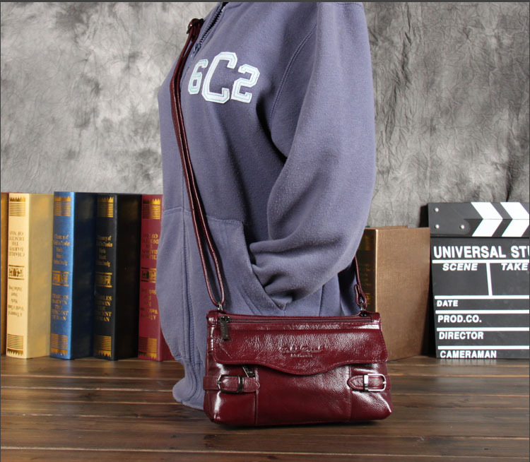 genuine leather small messenger bags for women ladies shoulder bags new handbags female cowhide<br>