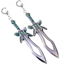 Hot Dota 2 Keychain the Butterfly Sword Weapon Key Chains Alloy Keyring Cosplay Jewelry Accesssory Best Gift