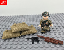 MOC 20pcs WW2 German Paratrooper Camo figure Military Army Sodier gun mini dolls Building Blocks Children Christmas Gifts Toys