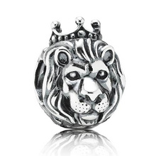 Authentic 925 Sterling Silver Animal Bead Charm King Of The Jungle Lion Beads Fit Pandora Bracelet Bangle Diy Jewelry HKA3263
