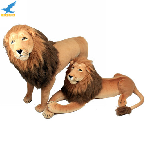 Fancytrader 43\'\' Giant Plush Stuffed Simulation Lifelike Lion King Simba Can be Rided by Kids Great Gift FT90284 (6)