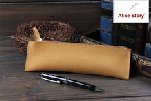 Genuine leather pencil bag cowhide pen case