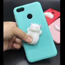 Squishy Cat Soft Phone Case for Huawei P9 lite mini Cute Case for Huawei Y6 Pro 2017 Candy TPU 3D Doll Phone Accessories Capa(China)