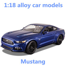1:18 alloy car models,high simulation Mustang sports car,metal diecasts,freewheeling,the children's toy vehicles,free shipping(China)