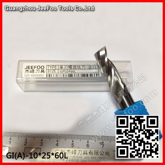 10*25*60L Single Flute CNC Milling Tools, Engraving Cutters, Wood Carving Bits, Drill Blade for Cutting MDF, Acrylic, Plastic<br>