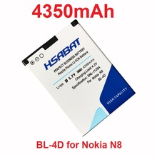HSABAT 4350mAh BL-4D BL 4D Mobile Phone Battery Use for Nokia N97 MINI E5 N8 E7 N8 803 N803 702T E6 N5 210 T7-00