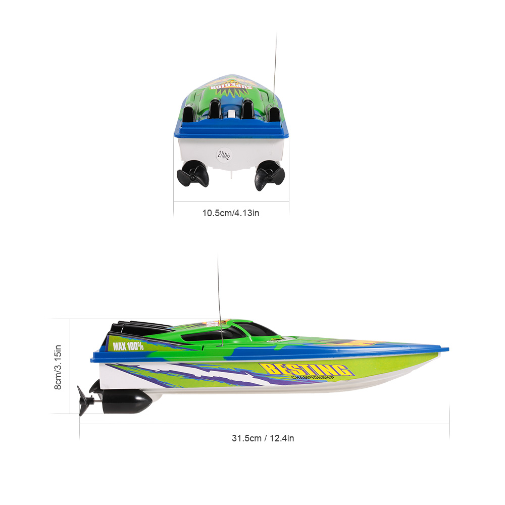Radio Control Racing Boat RTR Electric Speedboat Ship RC Boat Model RC Toys with 4.8V 700mAh Rechargeable Battery (11)