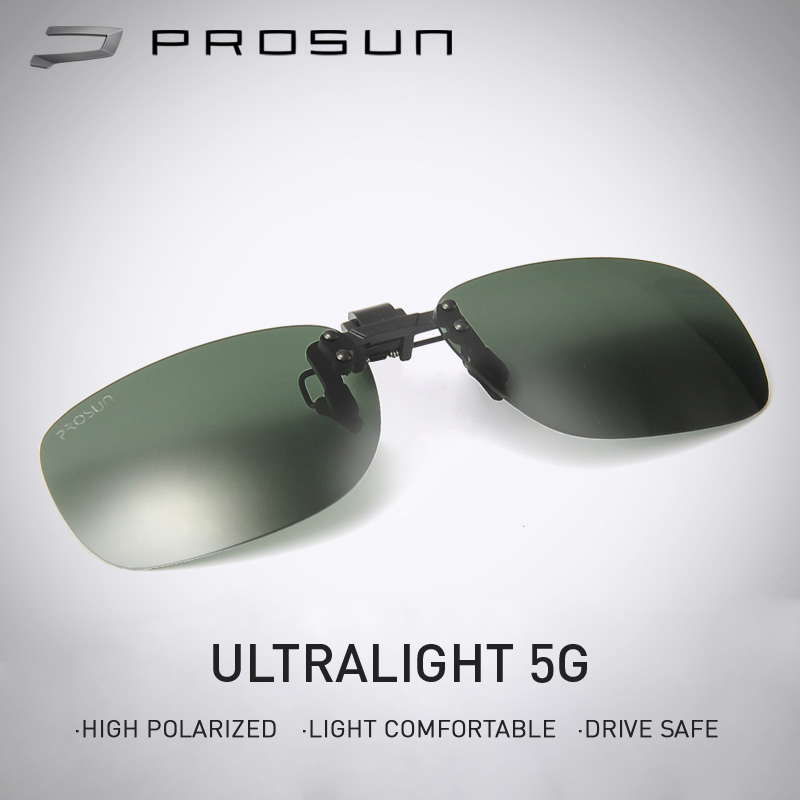 BOLON PROSUN Polarized Flip Up Clip on Sunglasses for Prescription Myopia Eyeglasses Hiking Driving Men Women Fishing Eyewear