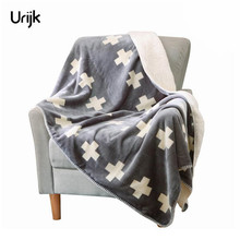 Urijk Thick Flannel Blanket Plaid Sofa Travel Double Layers Soft Blanket For Beds Throws Fleece Blanket Home Decor New Year Gift(China)