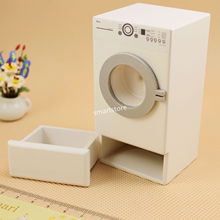 1:12 Modern Front Load Washer Washing Machine And Dryer Dollhouse Miniature(China)