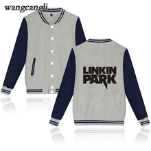 wangcangli Linkin Park Logo Long Sleeve Baseball Jackets Women's Winter baseball jacket coat Printed Leisure Sweatshirt tops men(China)