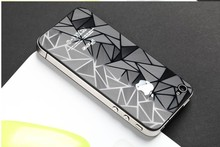 3D Luxury diamond Front and back High clear Protective Screen guard cover Film for iPhone 4 4G 4S Screen Protector free shipping