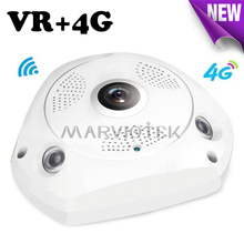 3G/4G LTE wireless IP Camera sim card 3MP alarm vr camera surveillance 360 degree ip ptz camera vehicle 960P with SD Card Slot