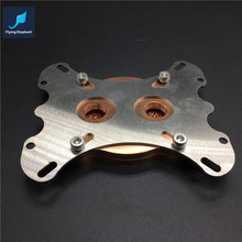 Full metal CPU water block for INTEL,AMD Curve type coarse waterway 6 cm wide full copper for water cooling usd