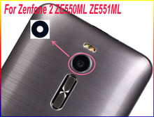 HAOYUAN.P.W Original Housing Rear Back Camera Glass Lens With Adhesive For ASUS ZenFone 2 ZE551ML ZE550ML