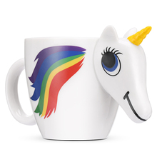 300ML 3D Color Changing Ceramic Mug Coffee Tea Milk Hot Water Cup Temperature Unicorn Drinkware Colour Novetly Christmas Gift(China)