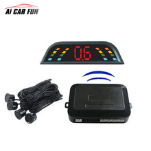 4 Buzzers Wireless Parking Sensor Kit LCD display Car parktronic Assistance Auto Reverse Backup Radar Monitor System detector()
