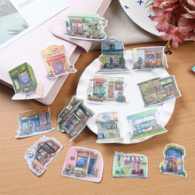 15pcs/lot Japanese Style Retro House Papers Stickers Flakes Vintage Romantic Love For Diary Decoration Diy Scrapbooking Sticker(China)
