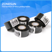 ZONESUN  date code Thermal ribbon of ribbon printing machine, 30*100m* 5 pieces , printer accessory ribbon for plastic and paper