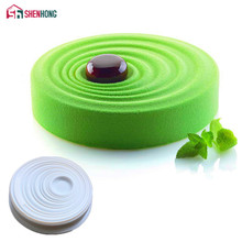 SHENHONG Round Ripple Cake Silicone Mould Pan 3D Art Mold Mousse Silikonowe Moule Baking Moule Chocolate(China)