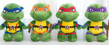 kawaii favorite soft cartoon character Anime Ninja Turtle Doll plush stuffed toy bag for children and adaults