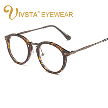 IVSTA Round Glasses Women Demi Johnny Depp Brand Thom Round Optical Frame Retro Brown Eyeglasses Prescription Eyewear Men 9580(China)
