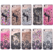 Liquid Glitter Meteor Sand Sequins Quicksand Dandelion Design Transparent Hard Mobile Phone cases For iphone 5 5S SE 6 6S 7 Plus