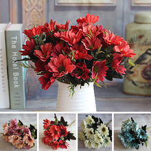 Wedding Decoration Artificial Flowers Party Red French Rose Floral Bouquet Peony Flower Arrange Table Daisy Flores Artificiales