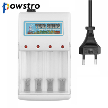 Universal AAA AA Battery Charger AC 220V EU Plug 4 Ports NiMH NiCd Batteries Charger for RC Camera Toys Electronics Etc.