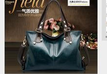 The new oil Wax leather handbags Europe and the United States through the sale of foreign trade burst handbags female bag diagon