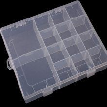 Environmental protection plastic fishing High Strength Transparent Plastic Fishing Tackle Box 20.5*16.5*3.7CM Multifunctional(China)